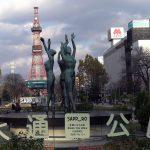 泉の像(大通公園)