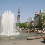 Odori Park fountains