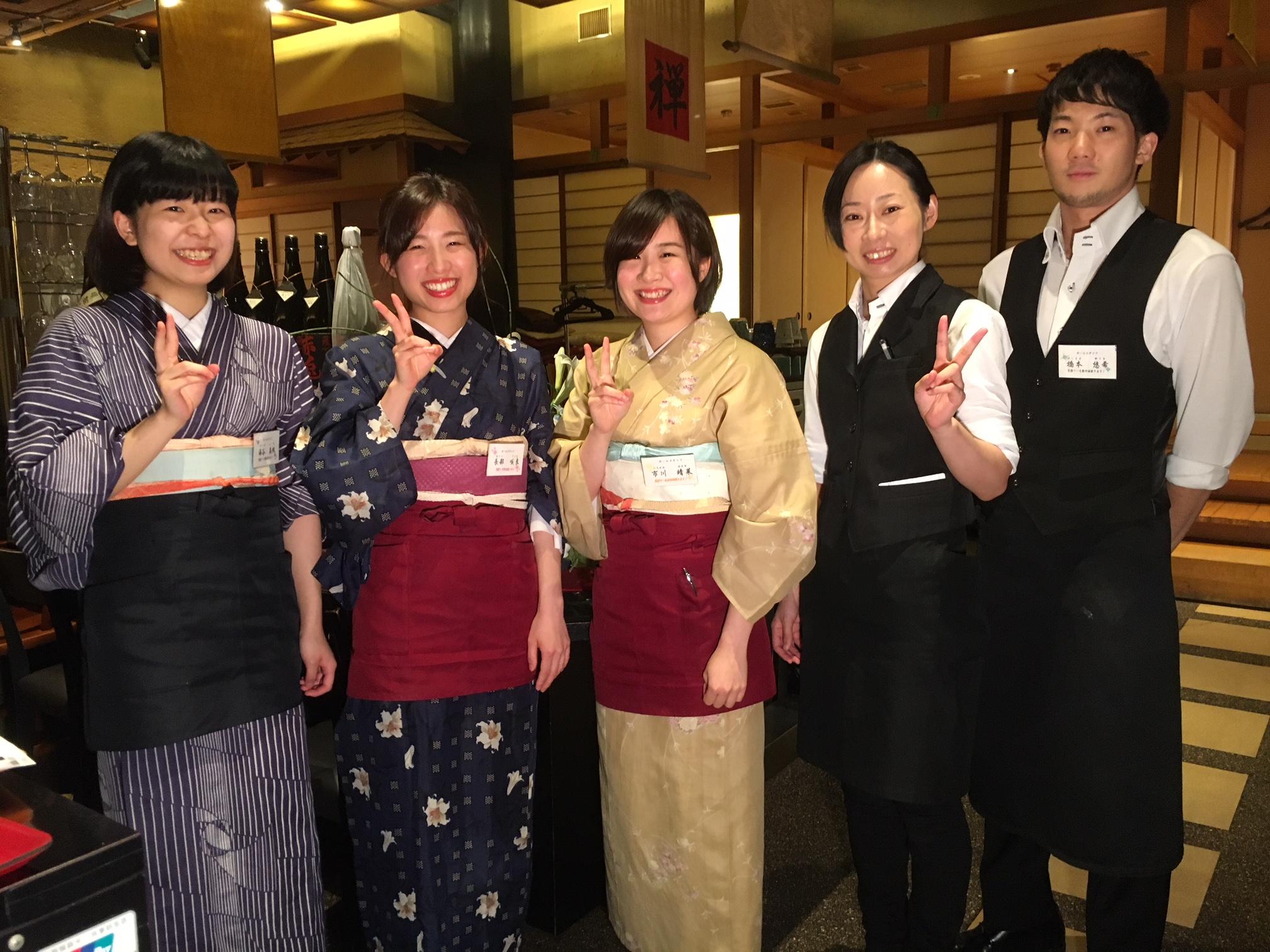 9月11日 札幌的餐厅:牛肉涮涮锅日式火锅专门店 禅(人气店 店员的照片)