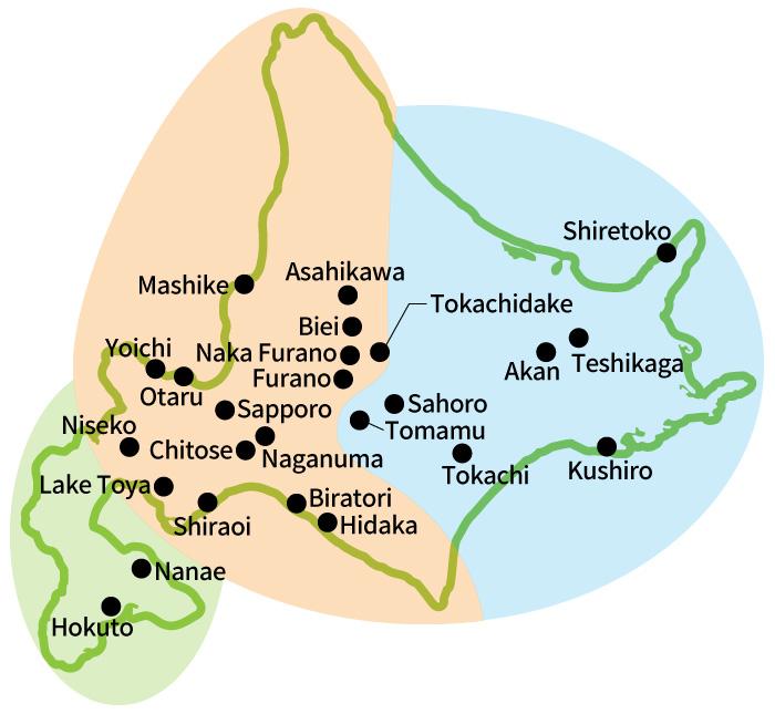 hokkaido Area map