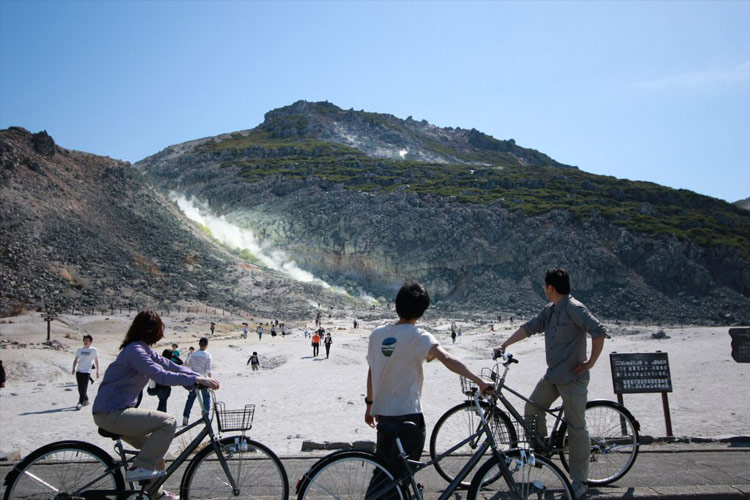 Let's go out by rental bicycle from Kawayu Onsen!