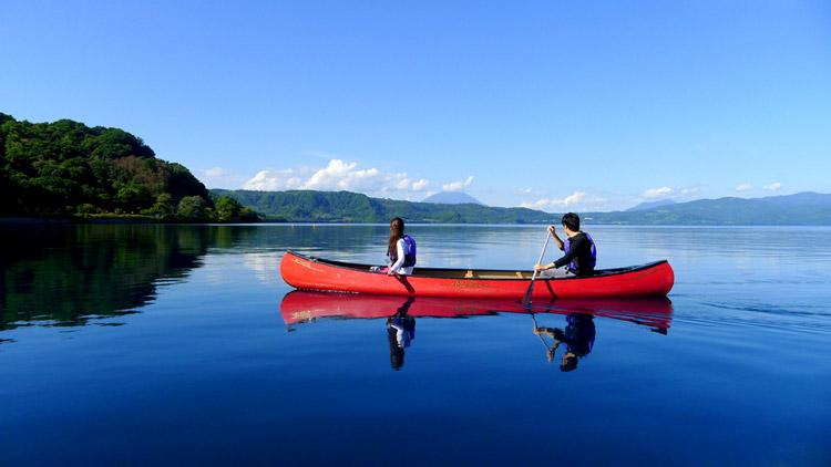 Lake Toya Canoe Short Touring (Afternoon Course)